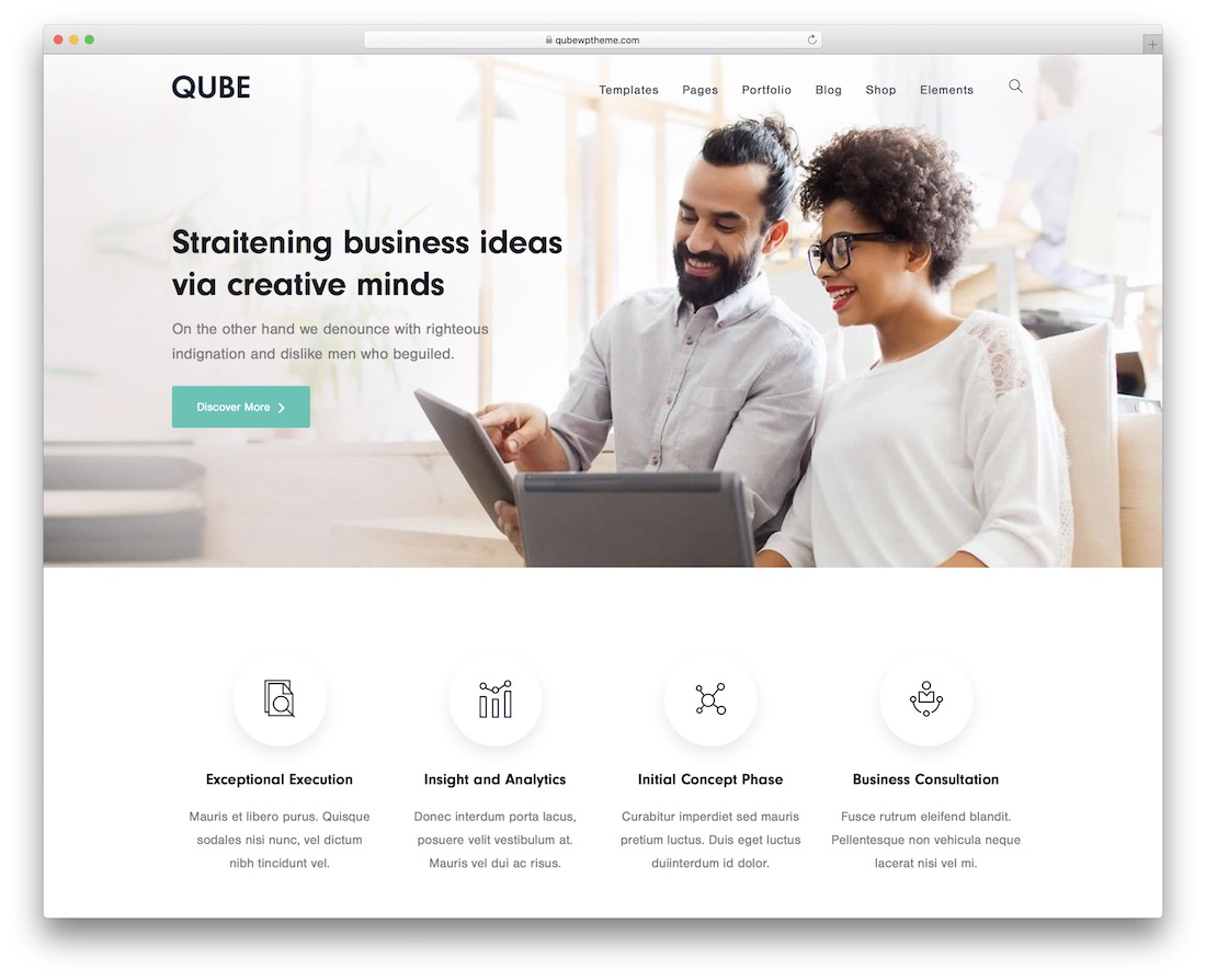 qube multipurpose wordpress theme