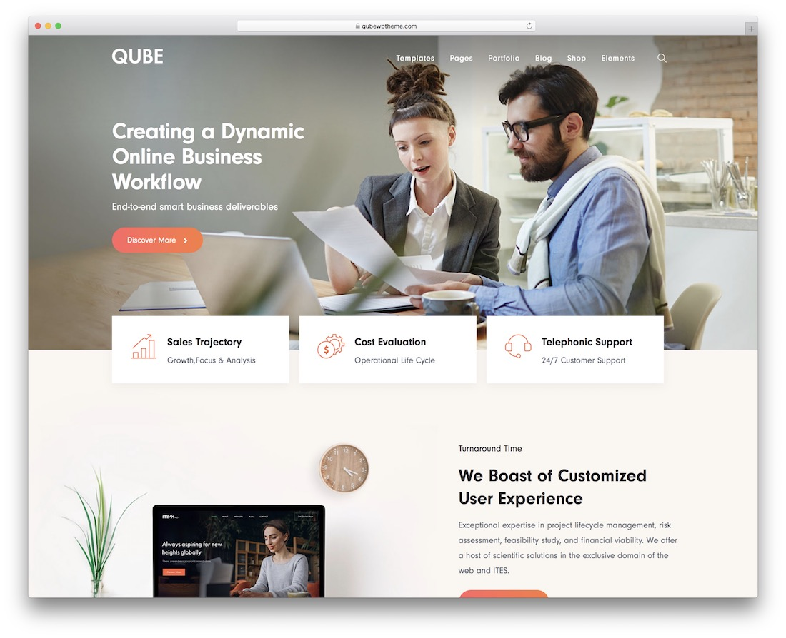 qube seo optimized wordpress theme