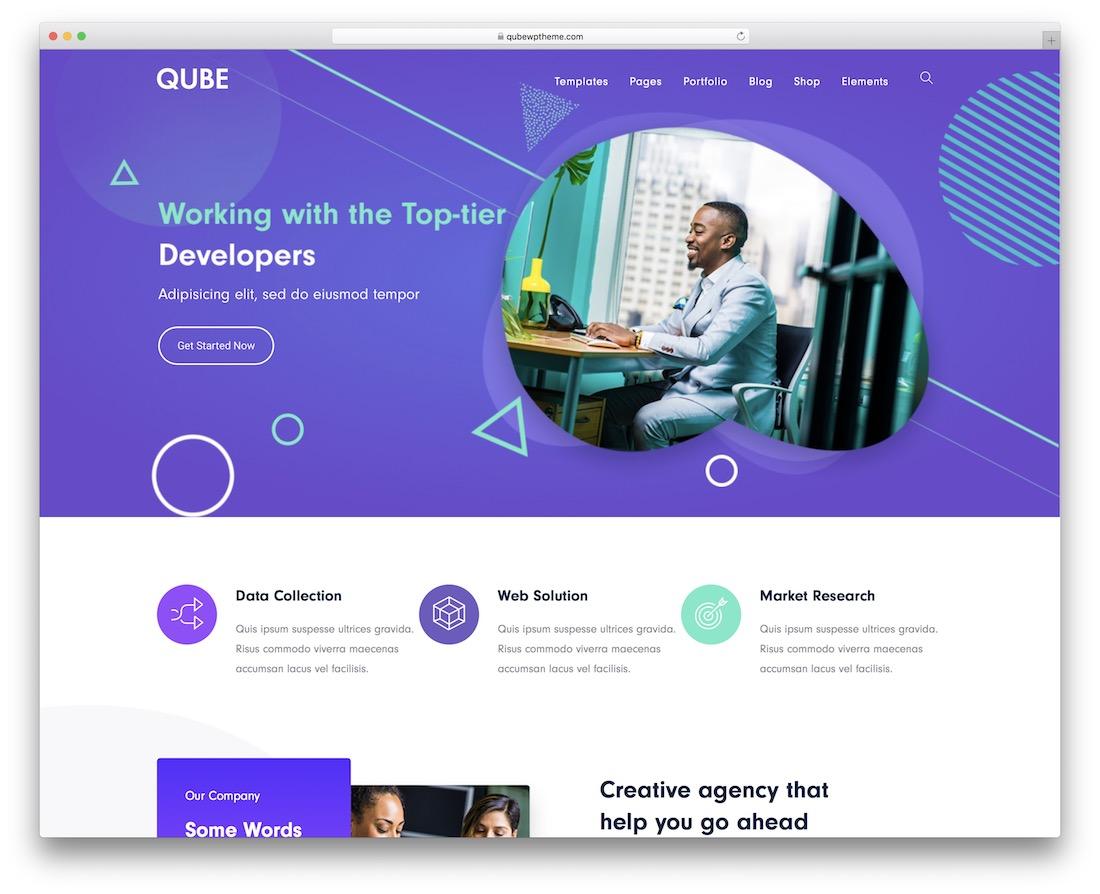 qube wordpress business theme