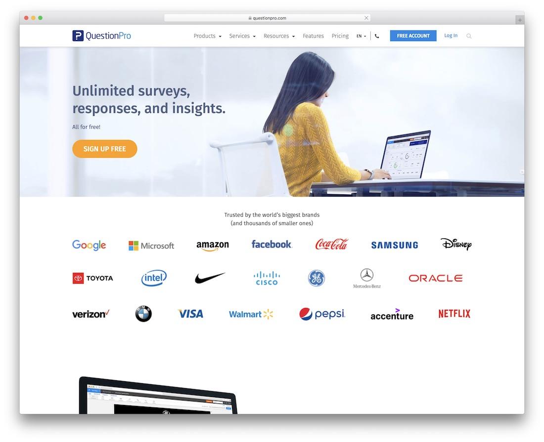 questionpro free wordpress survey plugin