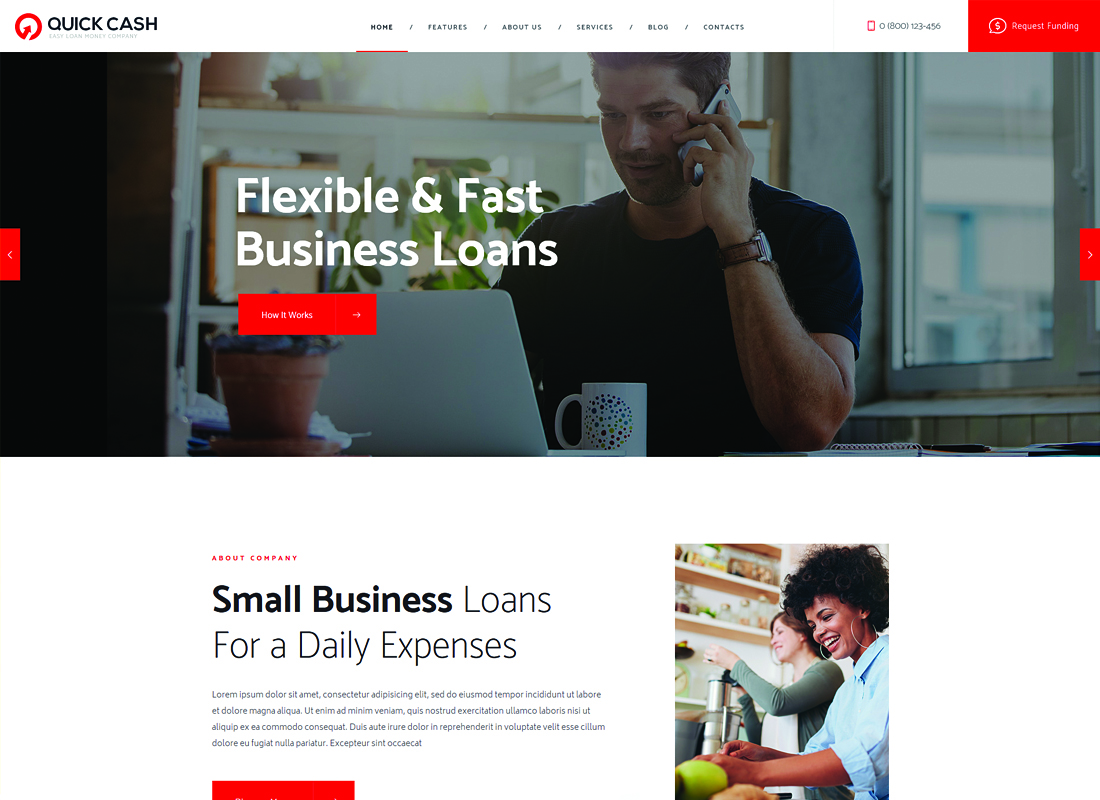 Quick Cash | Loan Company & Finance Advisor WordPress Theme