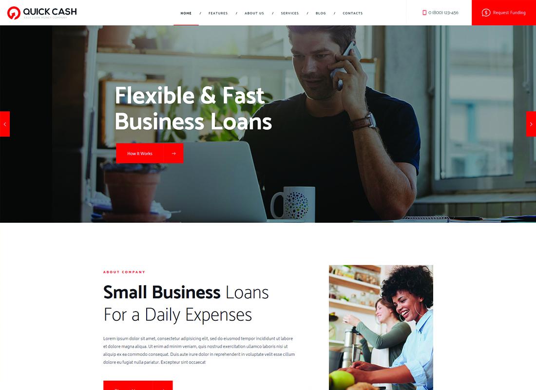 Quick Cash   Loan Company & Finance Advisor WordPress Theme