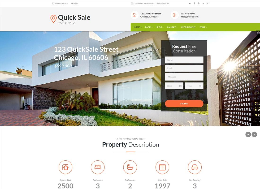 Quick Sale - Real Estate HTML Theme