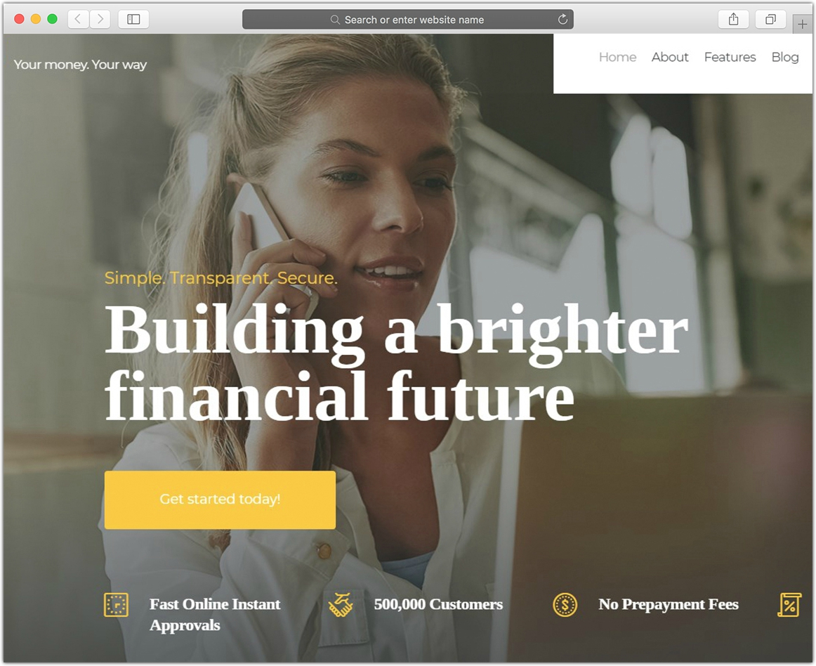 QuickLoans | Loan Company WordPress Theme
