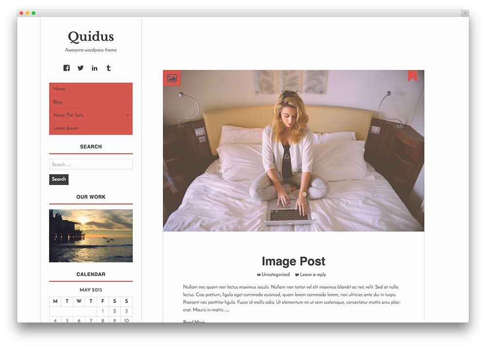 quidus - minimal and free blog theme