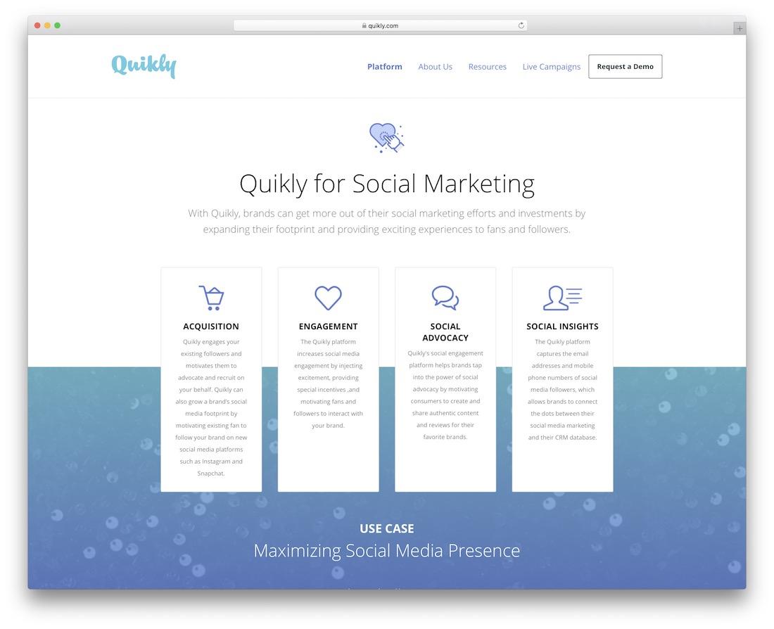quikly social engagement platform