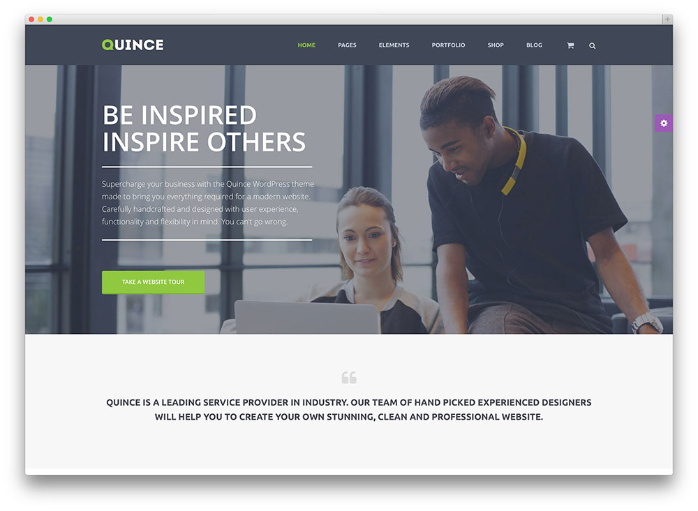 quince fresh financial company wordpress theme