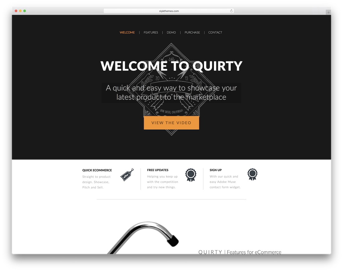 quirty ecommerce adobe muse template