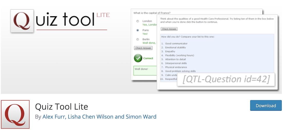 quiz tool lite wordpress plugin
