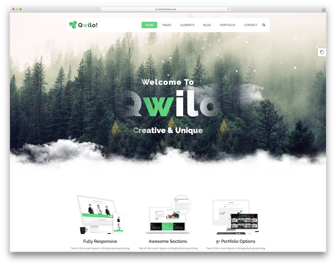 qwilo interactive website template