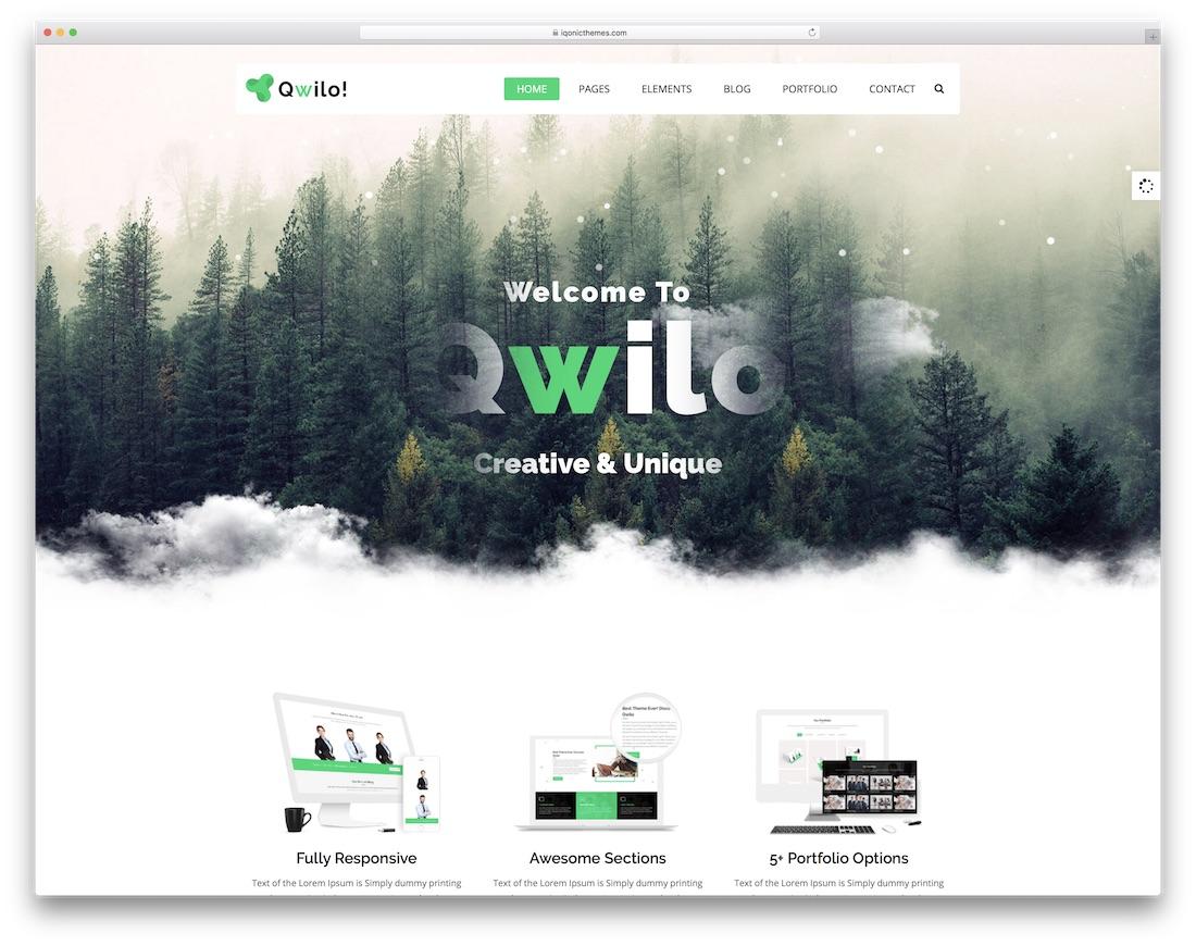 qwilo interactive website template