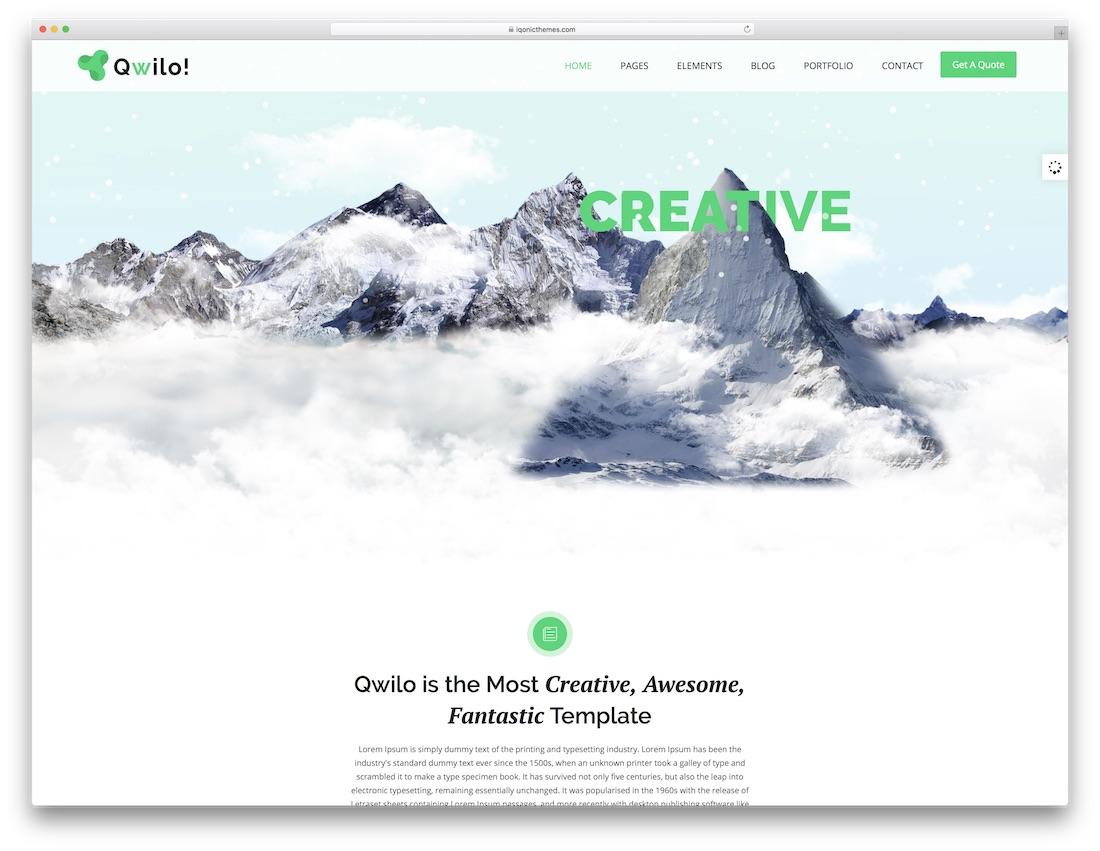 qwilo multipurpose website template