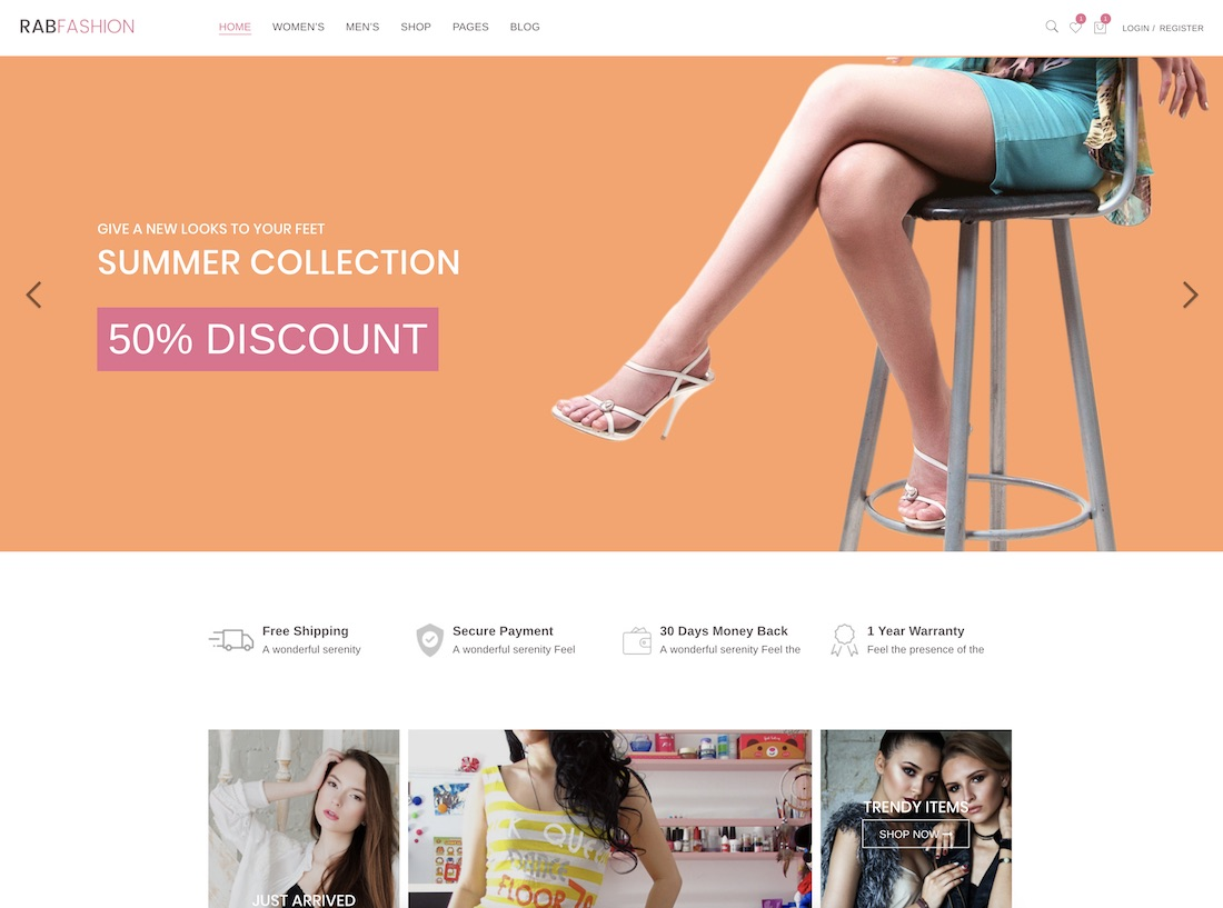 rab ecommerce website template