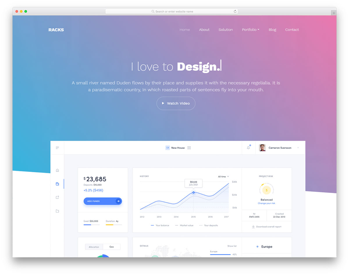 SAAS bootstrap website template