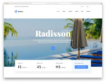 Radisson Free Template