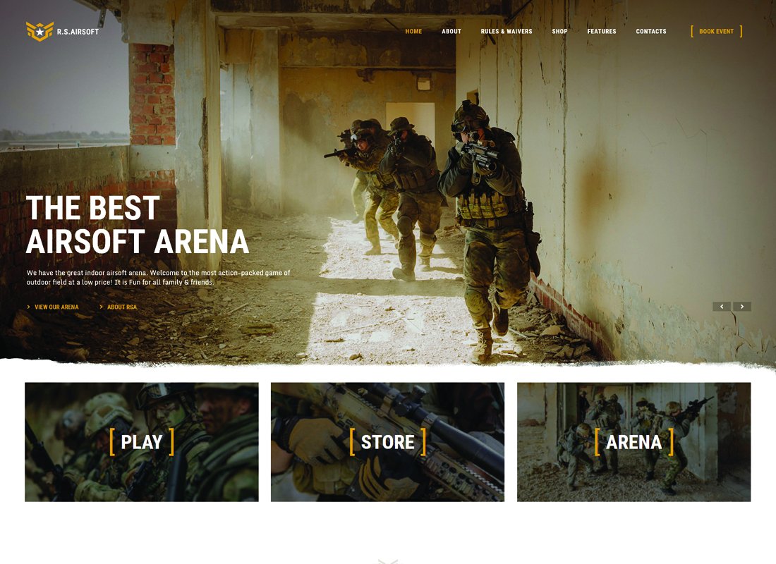 Raider Spirit - Airsoft Club & Paintball WordPress Theme