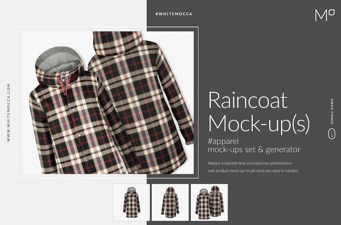 raincoat mock-ups