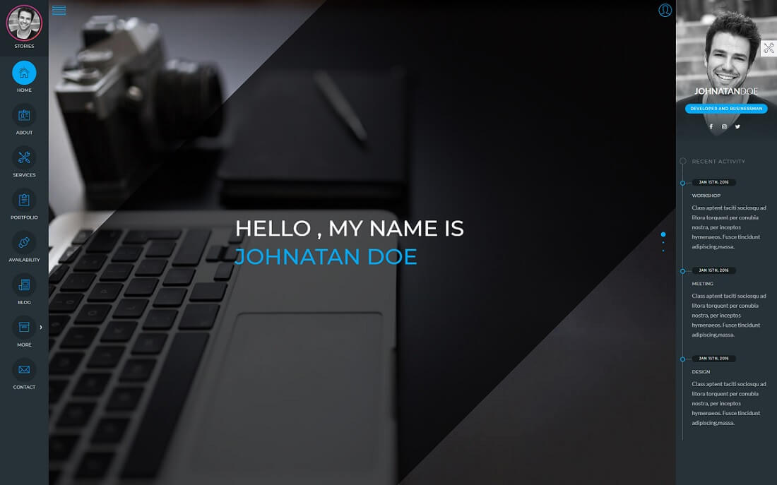rakia resume website template
