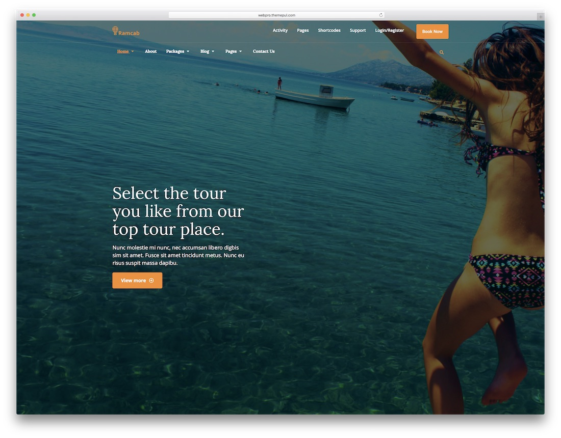 ramcab html5 hotel website template