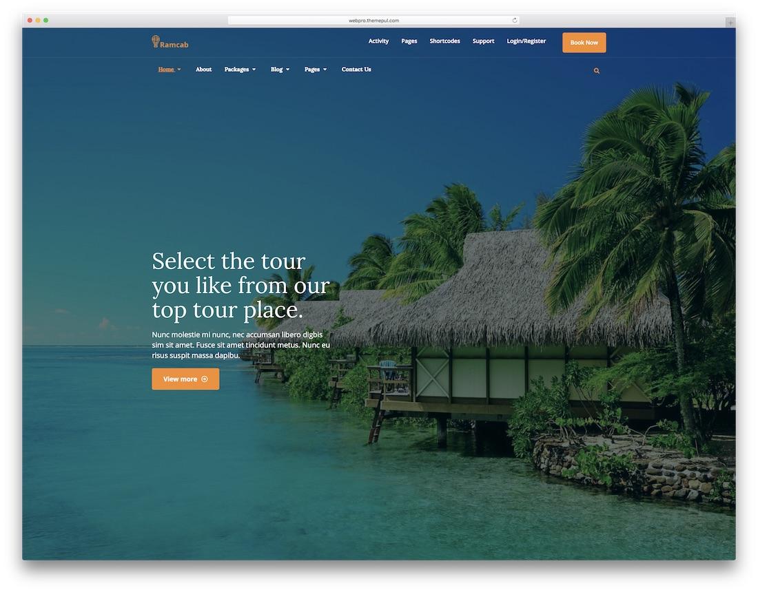 ramcab html5 travel website template
