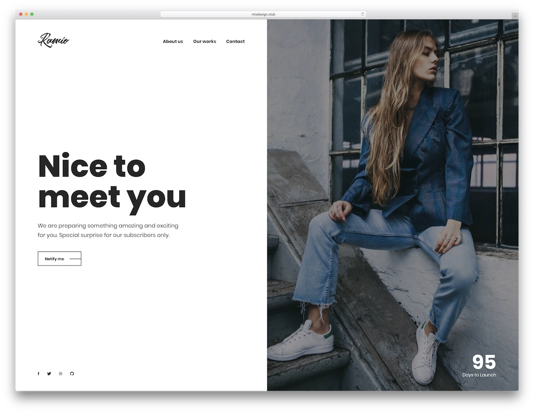 ramio coming soon website template