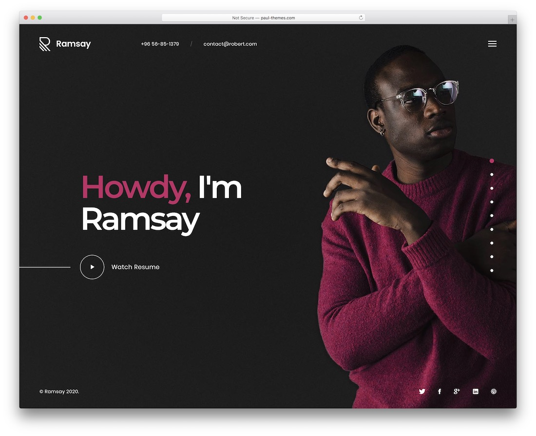 ramsay personal website template