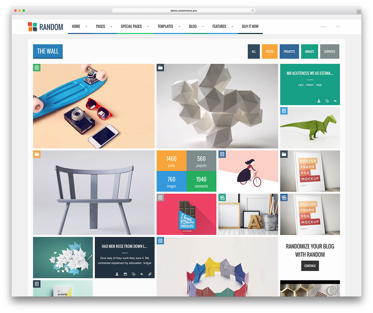 random-creative-grid-blog-theme