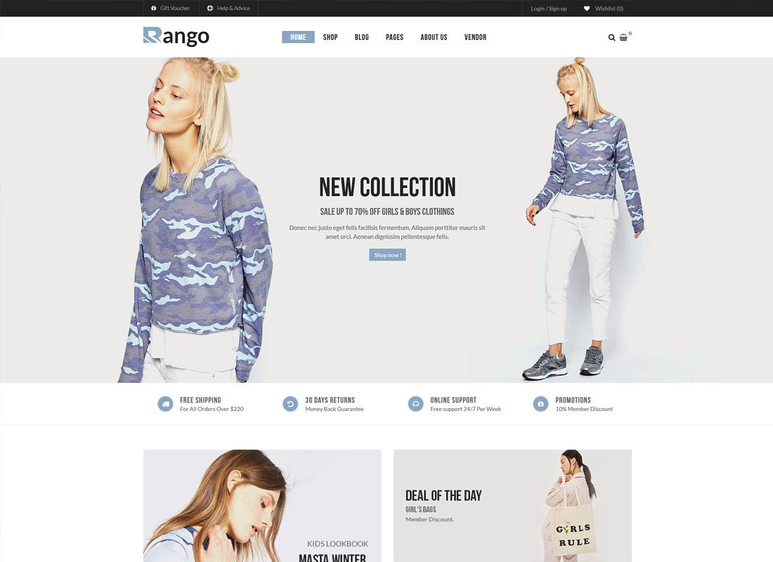 Rango - Modern Fashion WooCommerce WordPress Theme