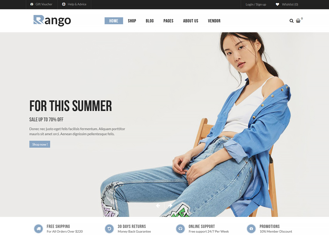 Rango - Premium Multi-Purpose Responsive WooCommerce WordPress Theme