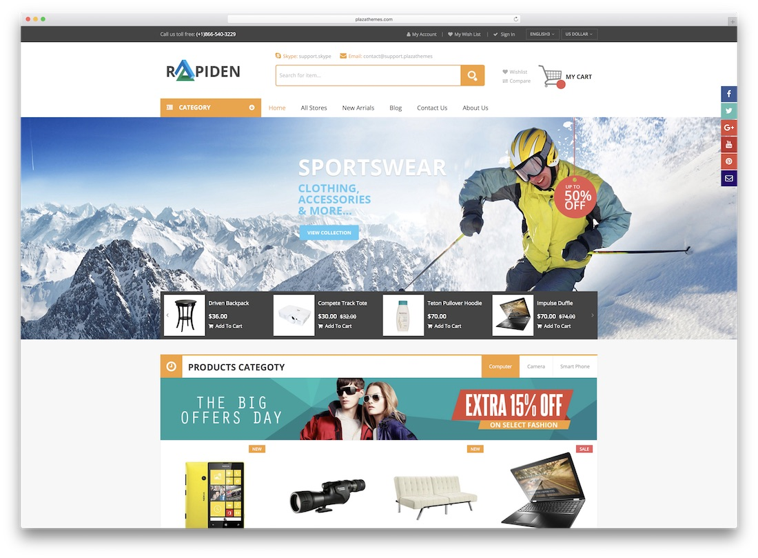 rapiden magento technology theme