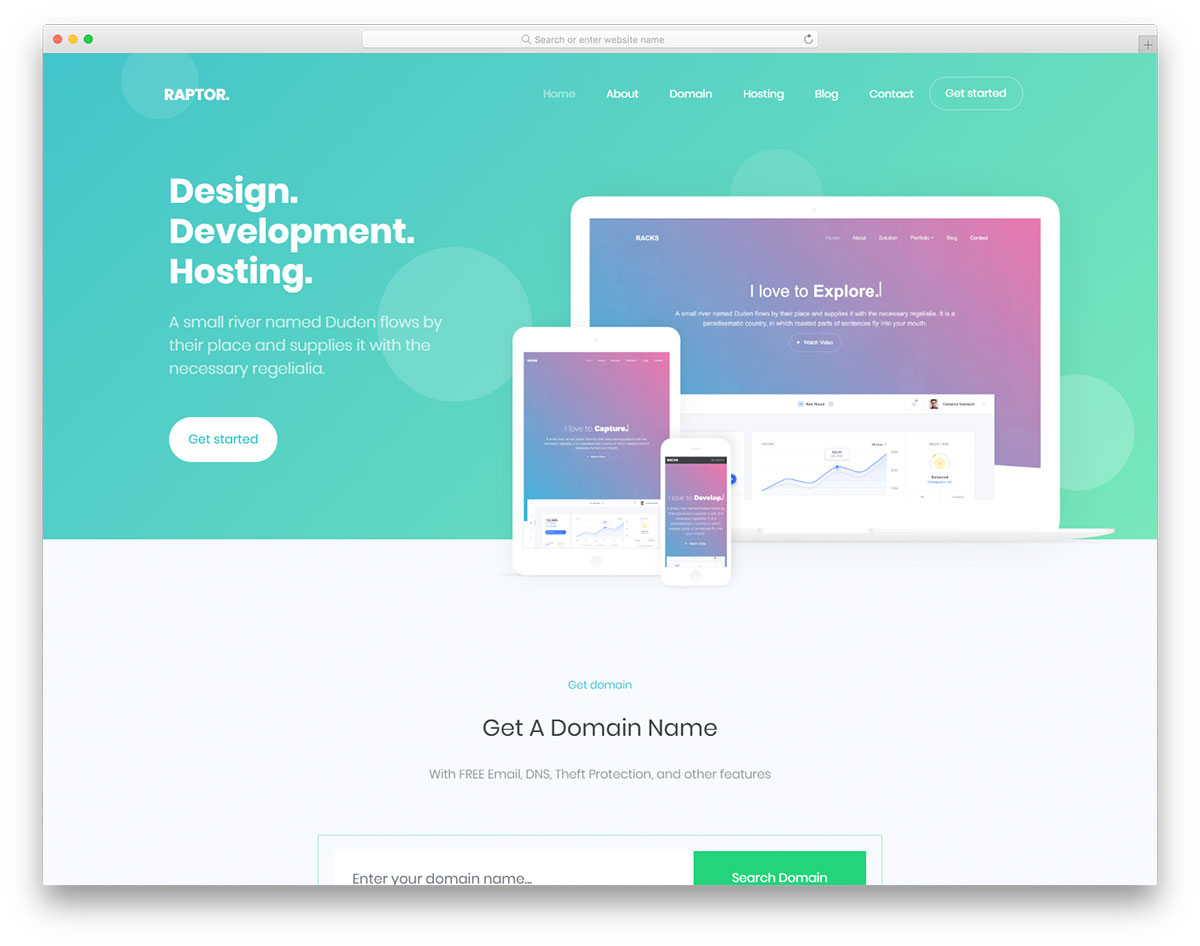 Most Popular Free App Landing Page Website Templates 2018