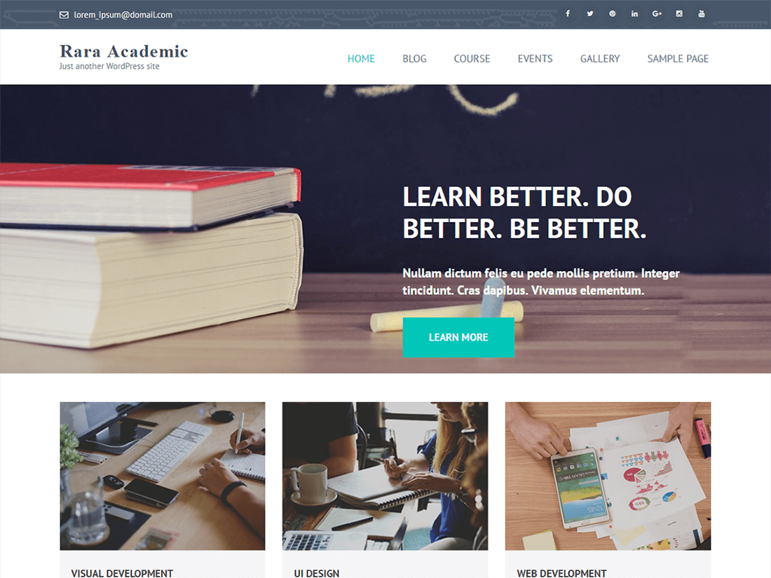 Rara Academic WordPress Education Theme