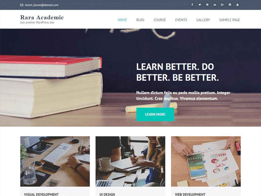Rara Academic WordPress Education Theme