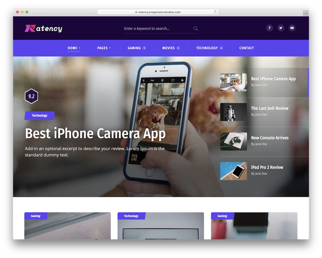 ratency wordpress review theme