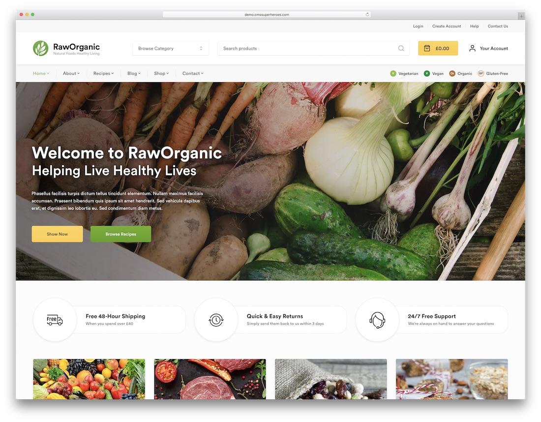raworganic green eco friendly wordpress theme
