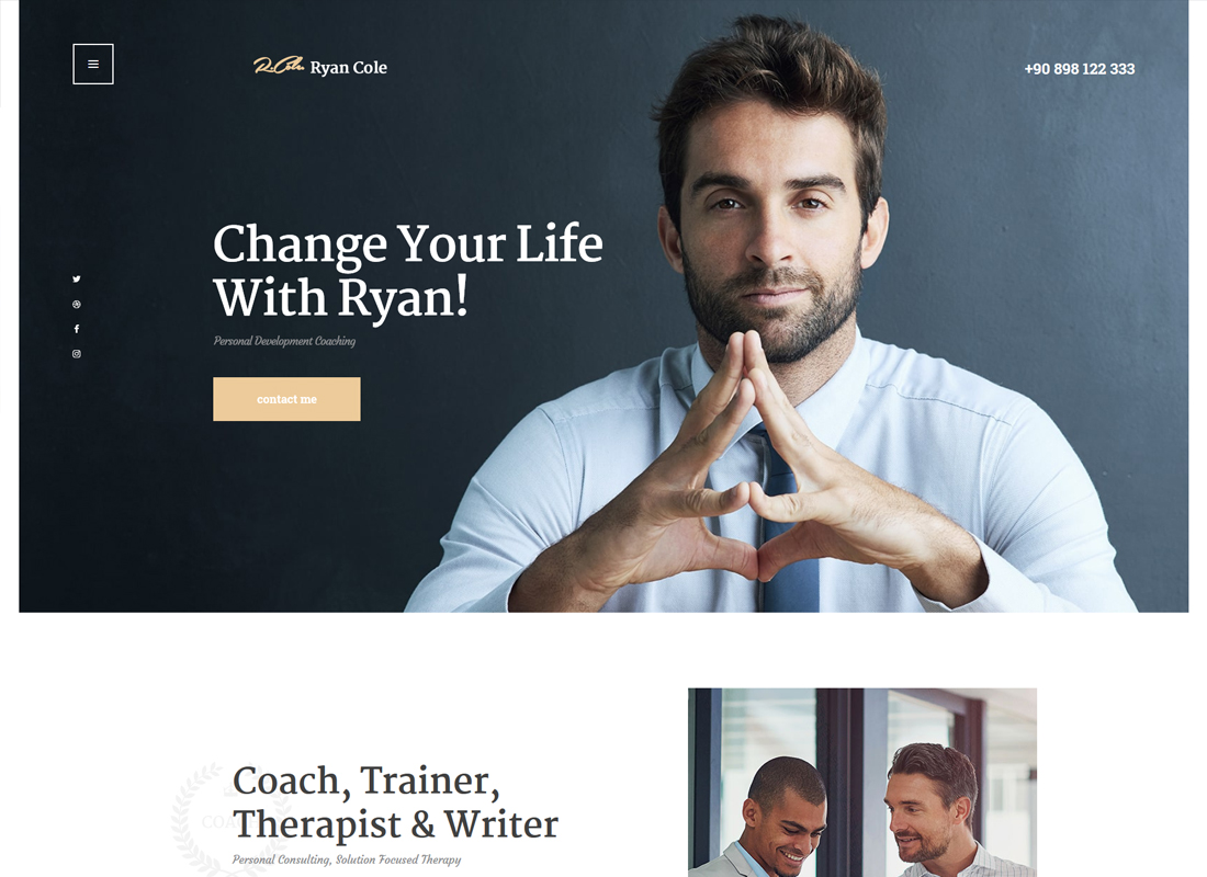R.Cole | Life & Business Coaching WordPress Theme