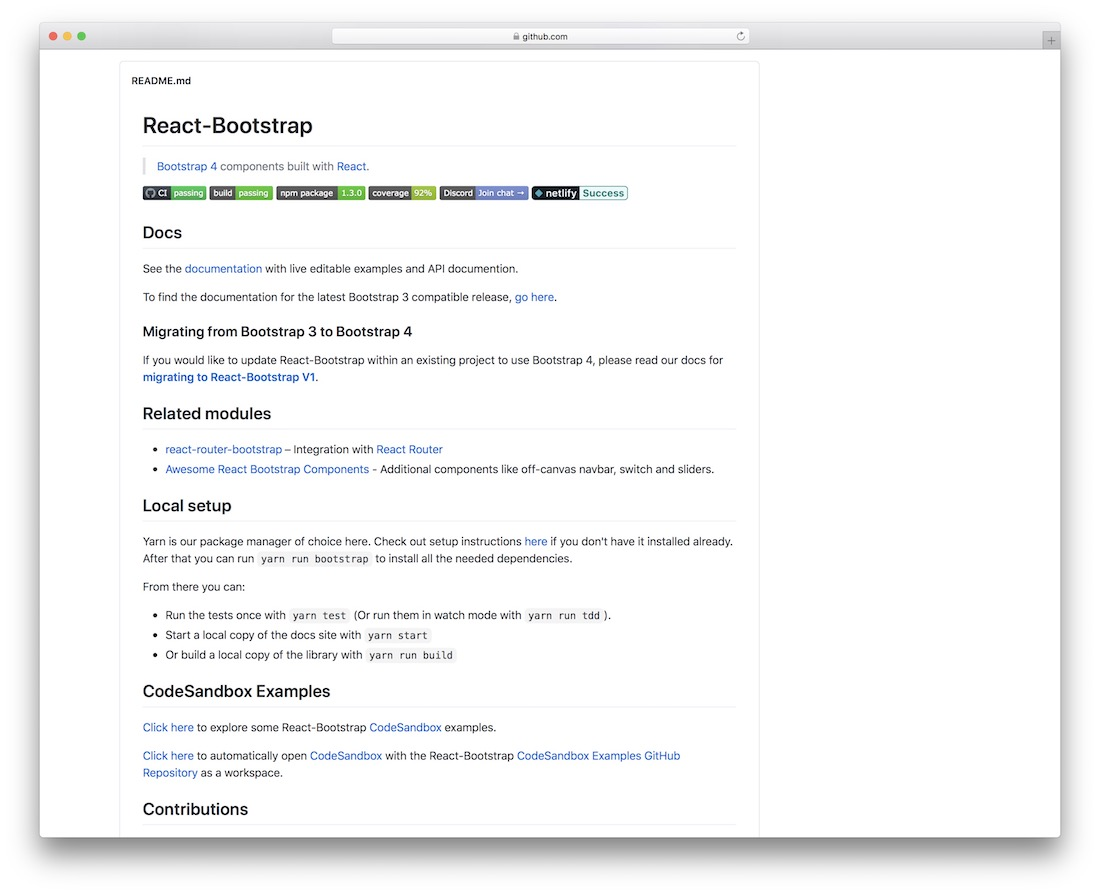 react bootstrap components