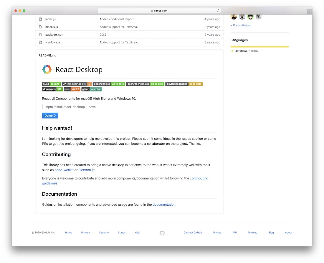 react desktop ui components