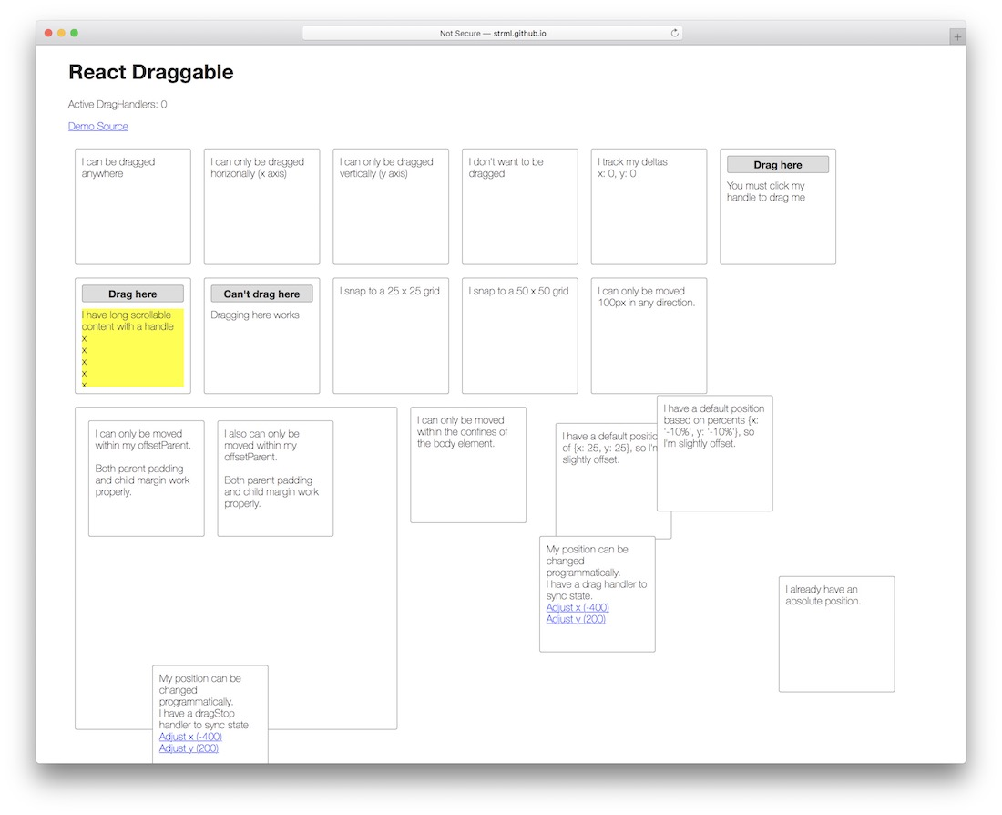 react draggable