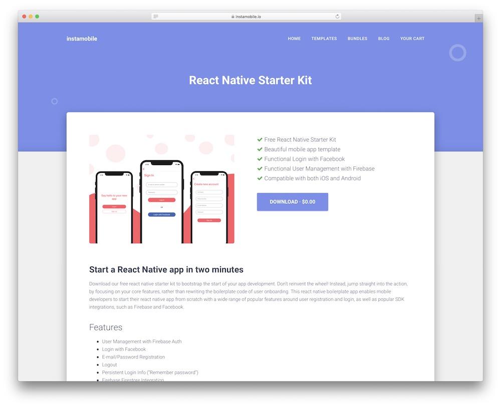 react native starter kit