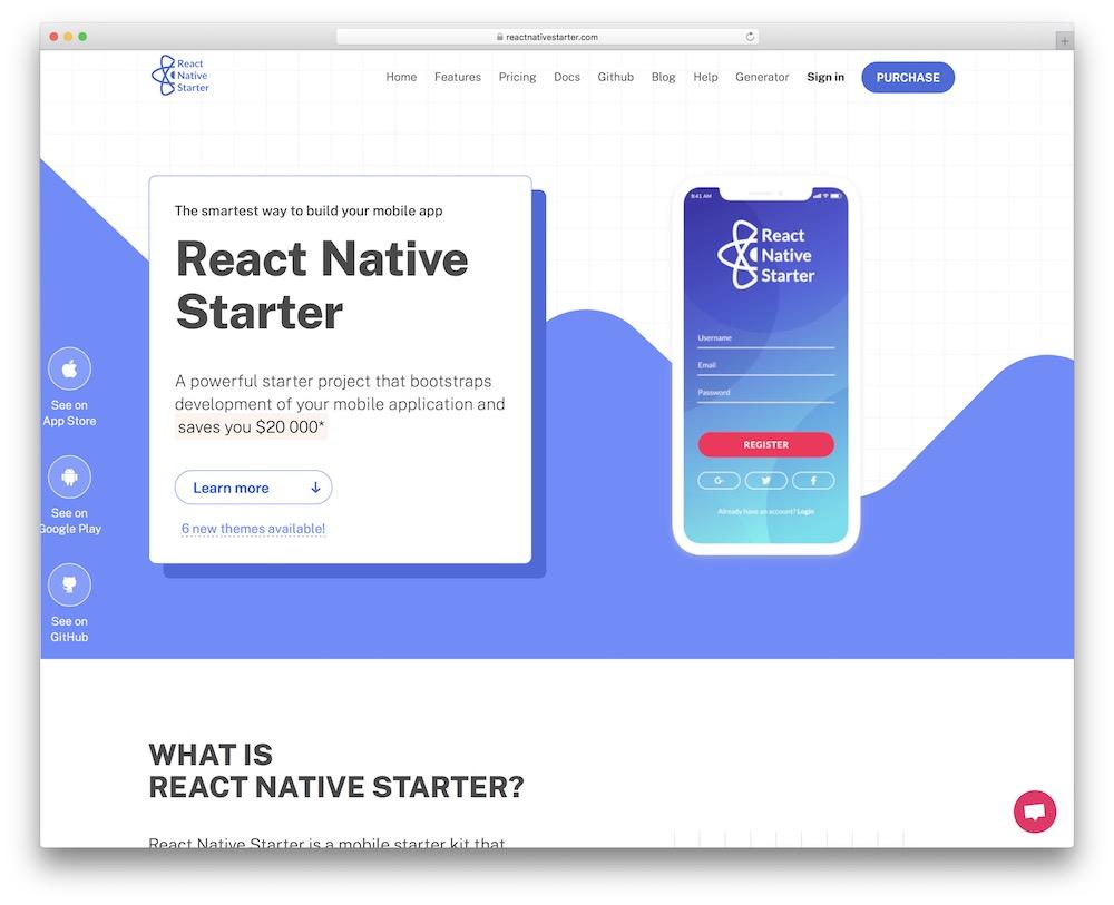 react native starter react native template