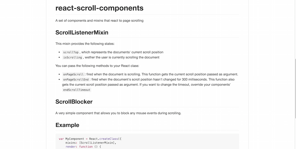 react-scroll-components