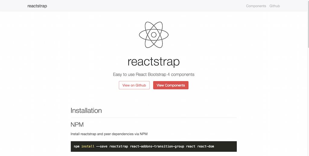 reactstrap React Bootstrap 4 components