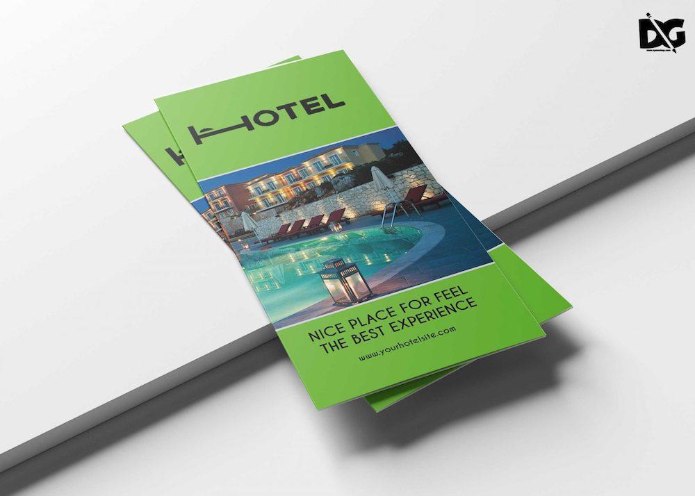 real estate hotel tri-fold brochure template