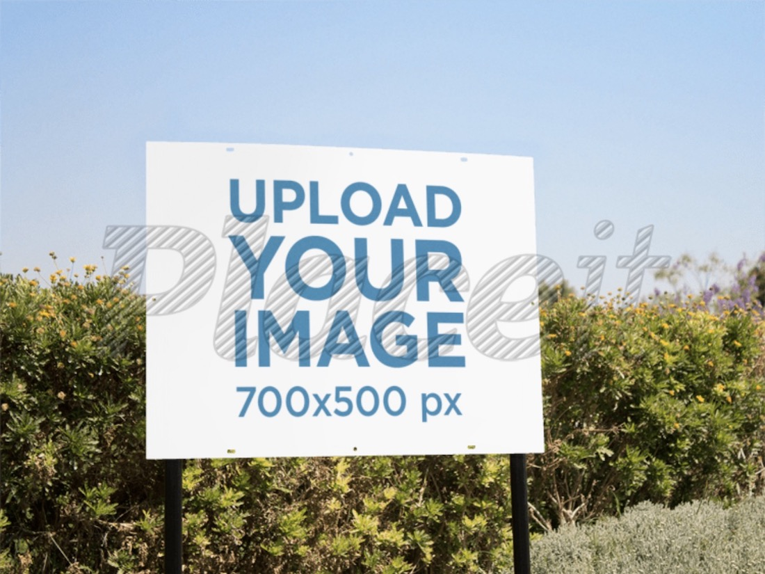 real estate lawn sign mockup