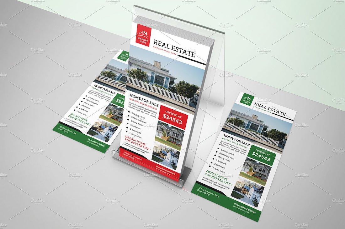 real estate rack card