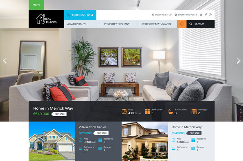 More Than 40 Beautiful And Responsive Real Estate WordPress Themes For Agencies, Realtors, Property Listings And Directories 2018