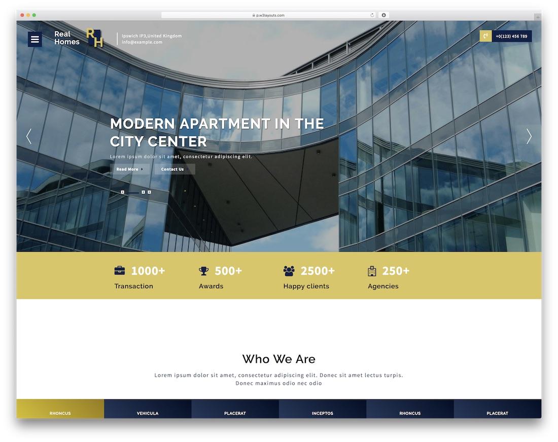 25 best free real estate website templates 2018 colorlib