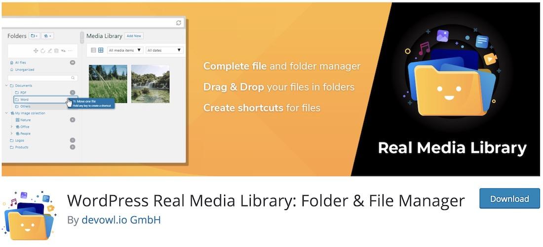 real media library lite wordpress plugin