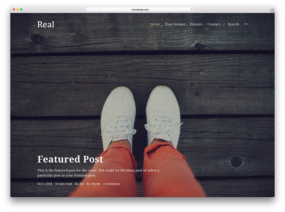 real - paid membership magazine style theme